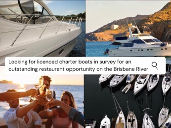 Charter Boat Restaurants in Prime Brisbane River Location #5143FO